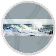 Breaking Seas Round Beach Towel