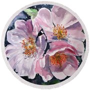 Round Beach Towel featuring the painting Briar by Kovacs Anna Brigitta