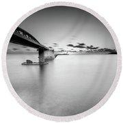 Round Beach Towel featuring the photograph Bridge by Okan YILMAZ
