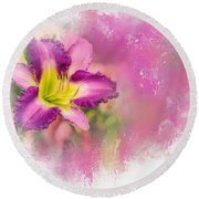 Bright Lily Round Beach Towel