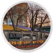Broadway Oyster Bar Round Beach Towel