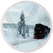 Brockenbahn, Harz Round Beach Towel