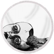 Broken Doll Round Beach Towel