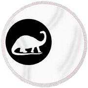 Brontosaurus Round Beach Towel by Mordax Furittus