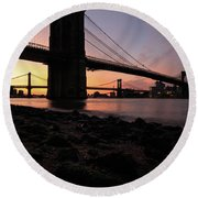 Brooklyn Sunrise Round Beach Towel