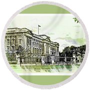 Buckingham Palace Round Beach Towel