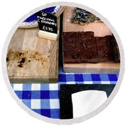 Cake Stall At A Market Round Beach Towel
