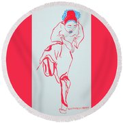 Cameroon Ngone Traditional Dance Round Beach Towel
