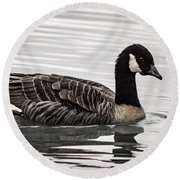 Canada Goose Round Beach Towel by Jean Noren