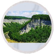 Round Beach Towel featuring the photograph Canyon  by Raymond Earley