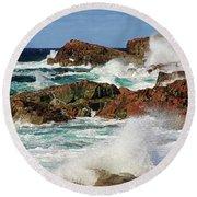 Cape Bonavista, Newfoundland Round Beach Towel