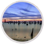 Cape Charles Round Beach Towel
