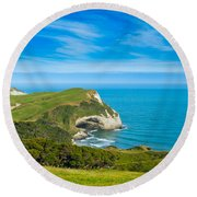 Cape Farewell Able Tasman National Park Round Beach Towel