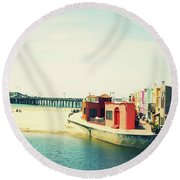 Capitola Venetian- Art By Linda Woods Round Beach Towel