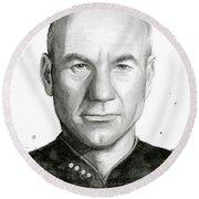 Captain Picard Round Beach Towel