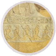 Captives Of Ramses Round Beach Towel