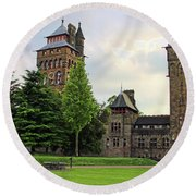 Cardiff Castle 8403 Round Beach Towel