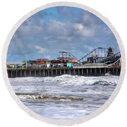 Casino Pier, Seaside Heights Nj Round Beach Towel