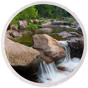 Castor River Shut-ins Round Beach Towel