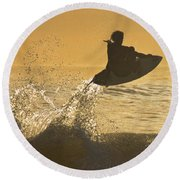 Catching Air Round Beach Towel