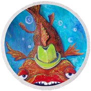Catfish Clyde Round Beach Towel