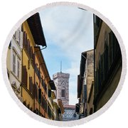 Cattedrale Di Santa Maria Del Fiore, Florence Round Beach Towel