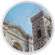 Cattedrale Di Santa Maria Del Fiore Is The Main Church Of Floren Round Beach Towel
