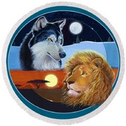 Celestial Kings Circular Round Beach Towel by J L Meadows