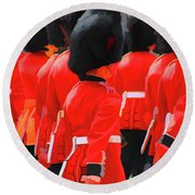 Changing Of The Guards  Round Beach Towel by Roger Lighterness
