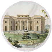 Chateau At Vinderhaute Round Beach Towel by Pierre Jacques Goetghebuer