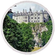 Round Beach Towel featuring the photograph Chateau De Walzin - Belgium by Joseph Hendrix