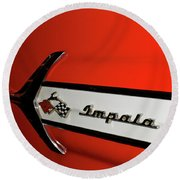 Chevy Impala Round Beach Towel