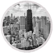 Round Beach Towel featuring the photograph Chicago's Gold Coast by Adam Romanowicz