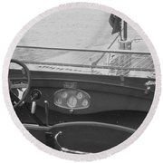Chris Craft Runabout Round Beach Towel