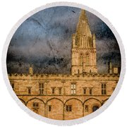 Round Beach Towel featuring the photograph Oxford, England - Christ Church College by Mark Forte