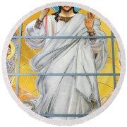 Christ The Redeemer Round Beach Towel