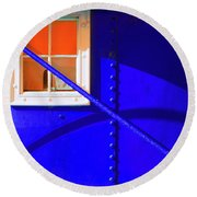 Round Beach Towel featuring the photograph Chromatic by Wayne Sherriff
