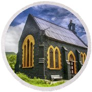 Church Round Beach Towel by Charuhas Images
