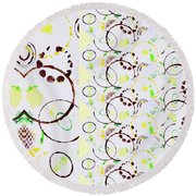 Circle Obsession 4 Round Beach Towel