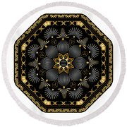 Circularium No. 2616 Round Beach Towel by Alan Bennington