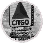 Citgo Sign Kenmore Square Boston Round Beach Towel