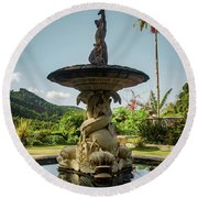 Round Beach Towel featuring the photograph Classic Fountain by Carlos Caetano