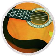 Round Beach Towel featuring the photograph Classic Guitar  by Carlos Caetano