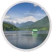 Round Beach Towel featuring the photograph Cleveland Dam by Ross G Strachan