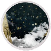 Cloud Cities New York Round Beach Towel by Mindy Sommers