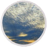 Round Beach Towel featuring the photograph Clouds Above  by Lyle Crump