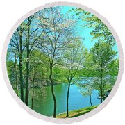 Cluster Of Dowood Trees Round Beach Towel