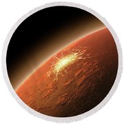 Colonization Of Mars Round Beach Towel