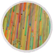 Round Beach Towel featuring the photograph Color Me Happy by Jamart Photography