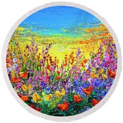 Color My World Round Beach Towel